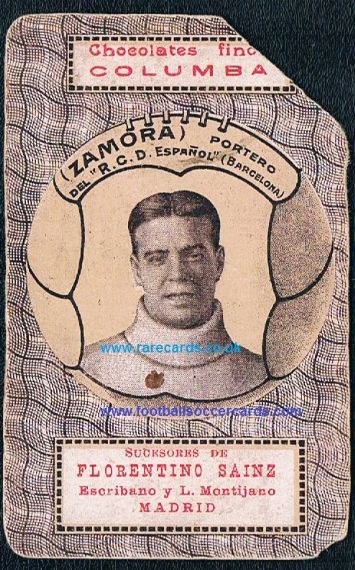 1924 playing card Espanyol Zamora